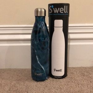 Brand new swell water bottle blue marble